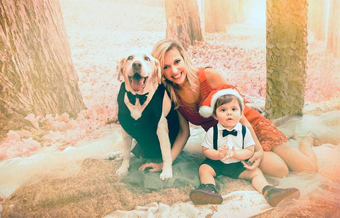 Luísa Mell aposta em foto em família para celebrar o Natal