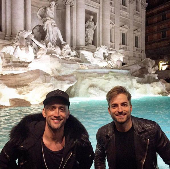 Paulo Gustavo curte lua de mel com Thales Bretas em Roma