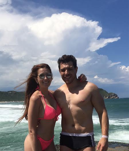 Cézar Lima e Tamires Peloso esperam 2016 em clima de romance