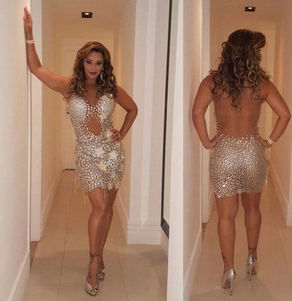 Viviane Araújo aposta no brilho para cair no samba. Veja!