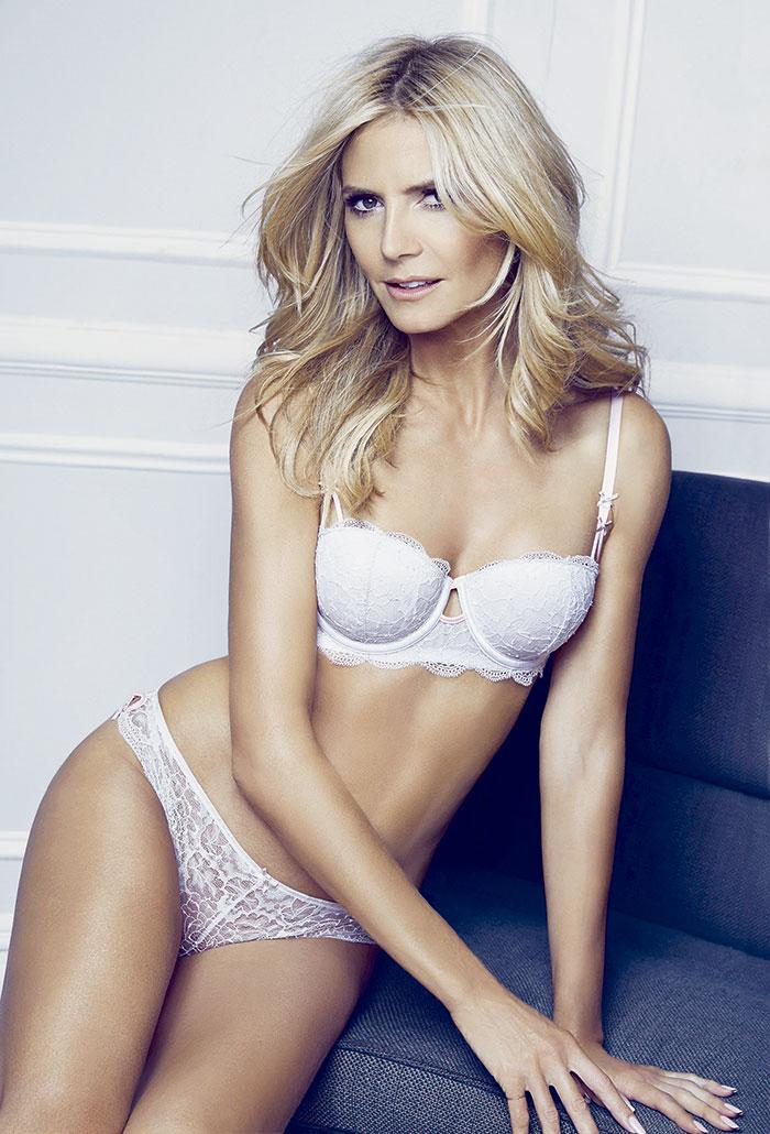 Heidi Klum é pura sensualidade em ensaio de lingerie