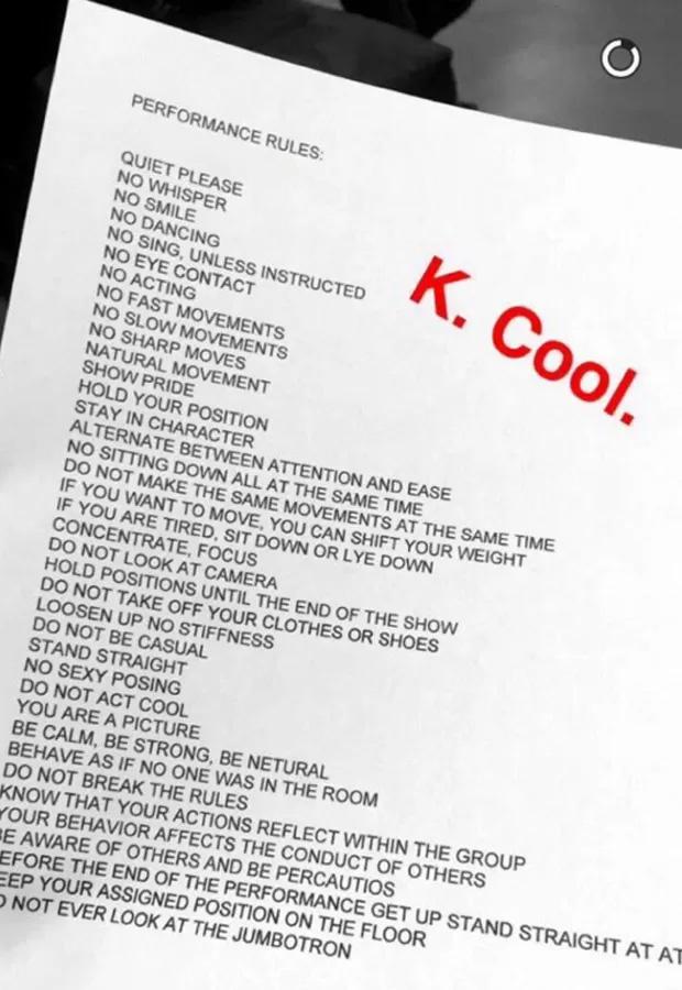 Kanye West faz exigências bizarras em desfile. Confira!