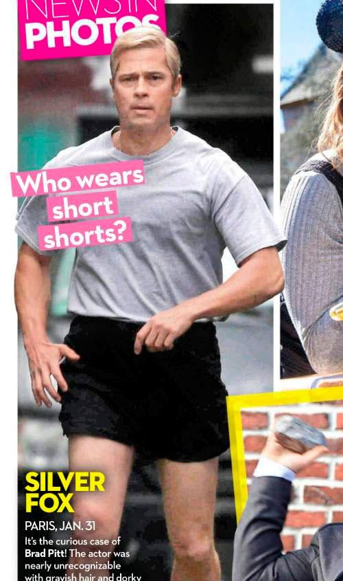 Brad Pitt não foi reconhecido nas ruas de Paris