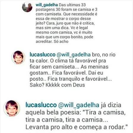 Lucas Lucco posta foto é criticado e responde com humor