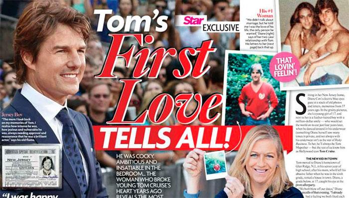 Primeiro amor de Tom Cruise faz grandes revelações sobre ele