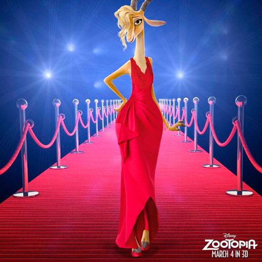 Shakira arrasa na pré-estreia do filme animado Zootopia