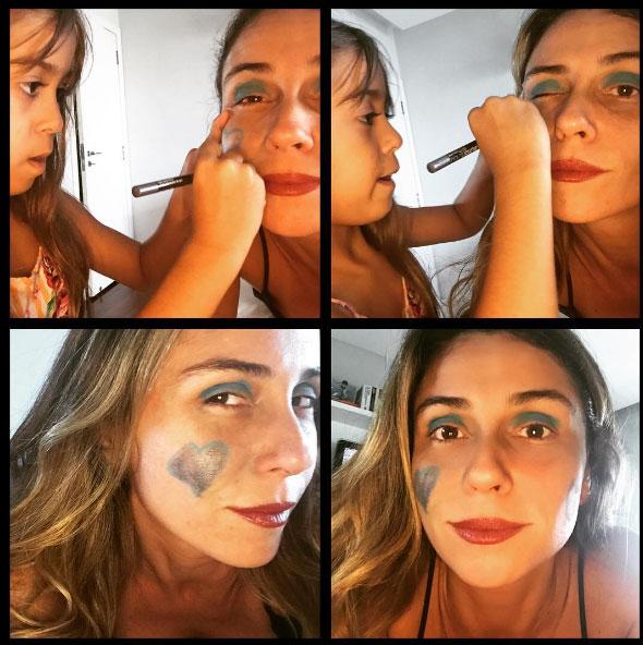 Giovanna Antonelli recebe 'maquiagem especial' para folga