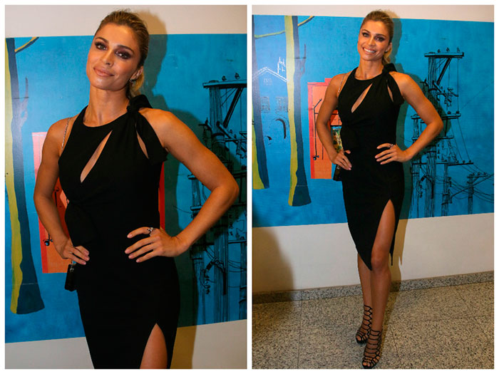 Grazi Massafera aposta em vestido Versace de R$ 6 mil