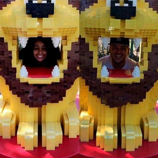 Rob Kardashian comemora seu aniversário na Legolândia