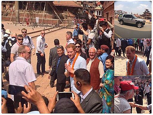 Príncipe Harry visita desabrigados no Nepal após terremoto