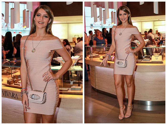 Isabella Santoni usa vestido de R$ 628