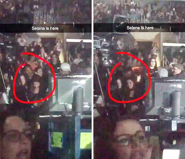 Voltaram? Selena Gomez assiste show de Justin Bieber