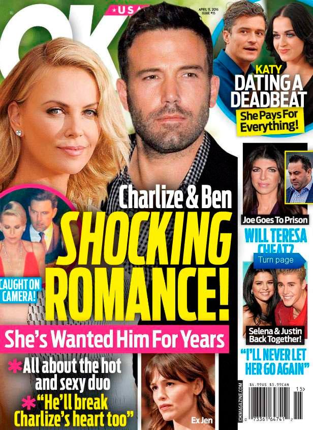Charlize Theron e Ben Affleck estão vivendo romance secreto