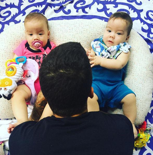Luana Piovani mostra reação dos filhos com chegada do marido