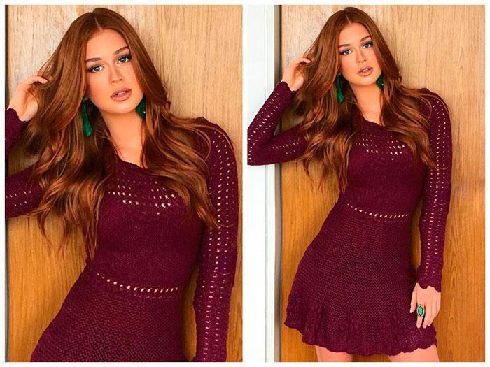 Vestido de tricô de Marina Ruy Barbosa vira sensação