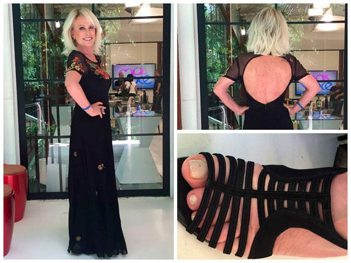Ana Maria Braga usa vestido de R$ 998