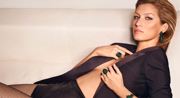 Gisele Bündchen aparece sensual em campanha de joias