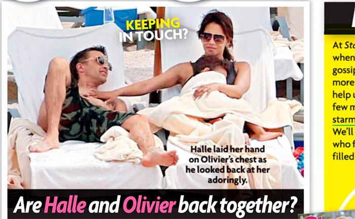 Halle Berry faz carinho no ex-marido e levanta suspeitas