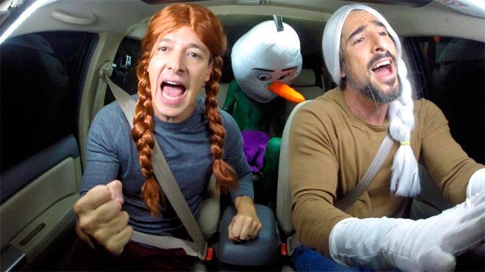 Marcos Mion e Rodrigo Faro viram personagens de Frozen