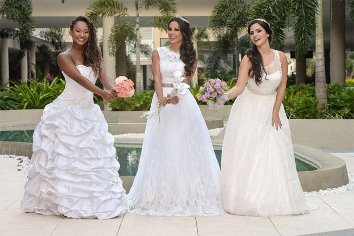 Fernanda D'ávila posa vestida de noiva para a Elegance Santé