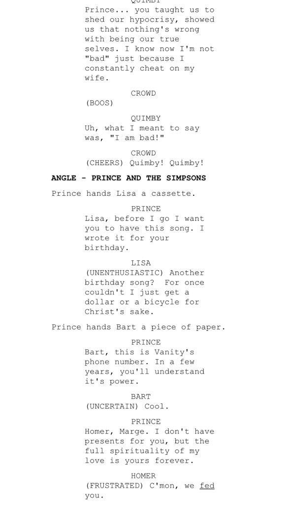 Prince deveria ter participado de Os Simpsons