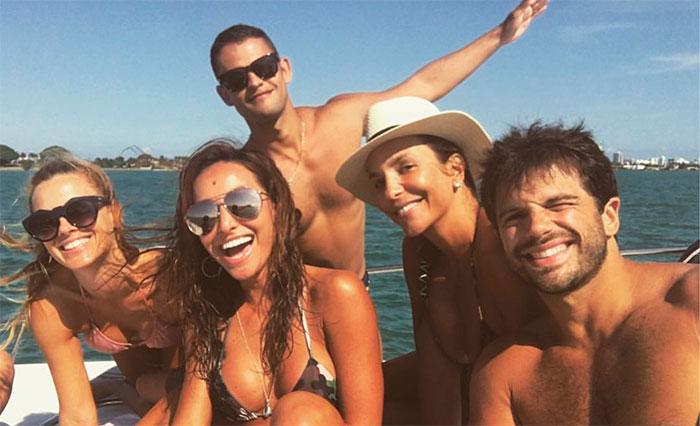 Sabrina Sato, Sangalo e Dieckmann se divertem em Miami