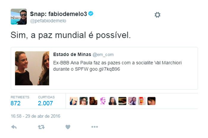 Ana Paula convida padre Fábio de Melo para seu casamento