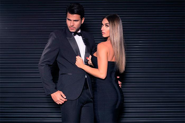 Nicole Bahls e Marcelo Bimbi esbanjam sintonia com elegância