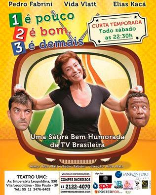 Vida Vlatt e Pedro Fabrini estreiam comédia em São Paulo