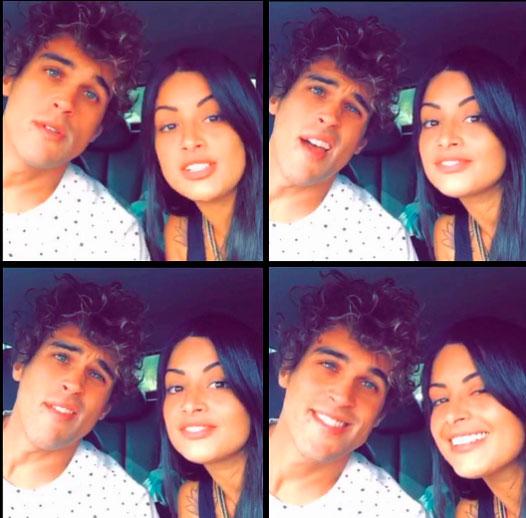 Aline Riscado posta montagem com Felipe Roque: 'Saudade'