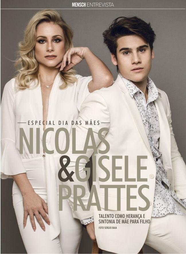 Nicolas Prattes posa com a mãe, Gisele: 'Ela ama minhas fãs'