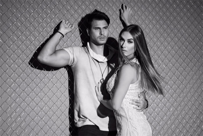 Nicole Bahls e Marcelo Bimbi esbanjam charme de jeans