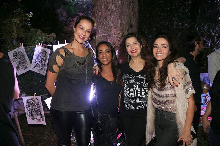 Luana Piovani e Paulo Gustavo se divertem em festa no Rio