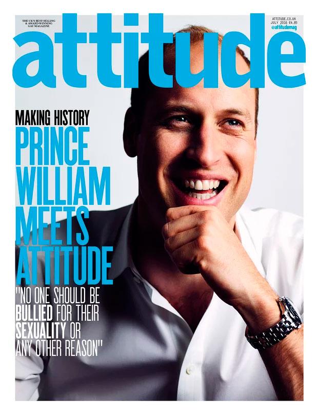 Príncipe William é capa de revista gay