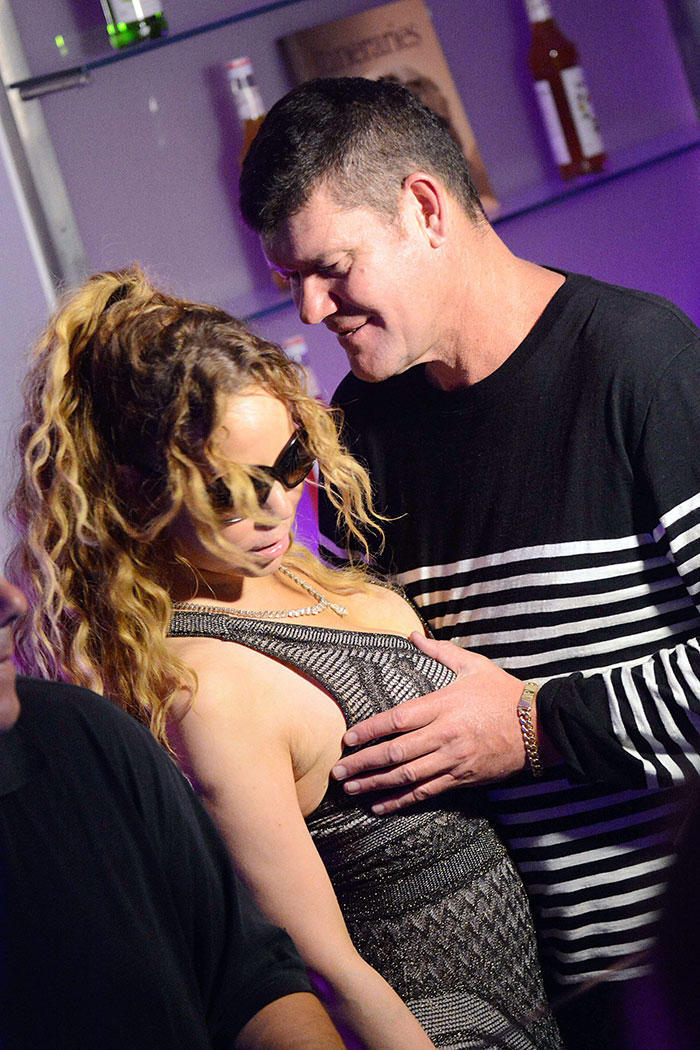 Mariah Carey ganha apalpada indiscreta do noivo