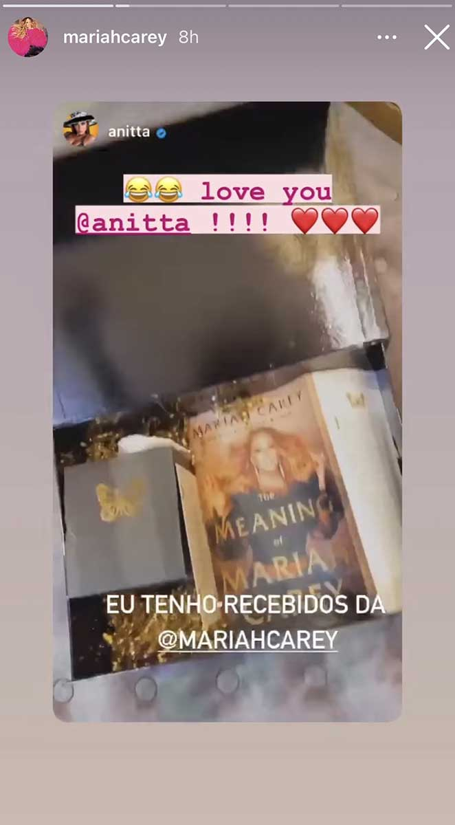 Mariah Carey manda presente para Anitta