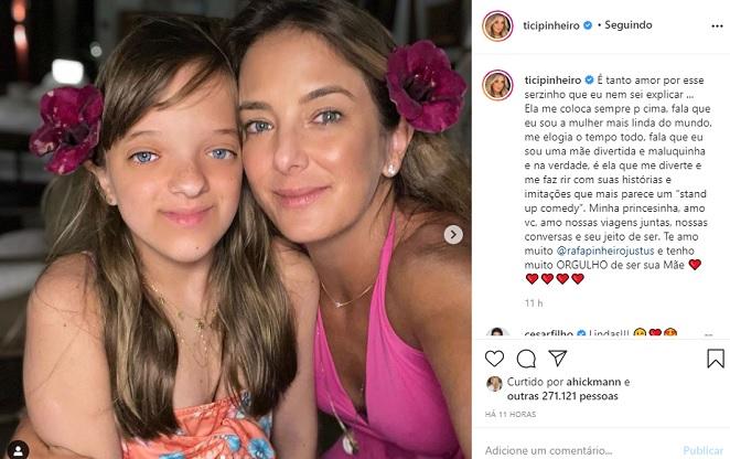 Ticiane Pinheiro se declara para a filha Rafaella Justus