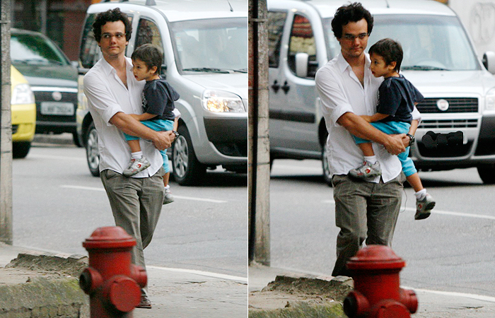 Photo of Wagner Moura & his  Son  Bem Moura