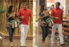 Elegantes, William Bonner e Fátima Bernardes passeiam pelo shopping  -