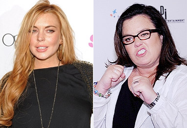 Lindsay Lohan está chocada com as críticas de Rosie O'Donnell - Getty Images