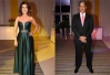 Fátima Bernardes e William Bonner arrasam no look em festa da Globo -