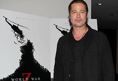 Brad Pitt participa de exibição do filme Guerra Mundial Z, em Nova