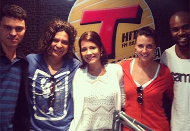 Juliana Knust divulga peça de teatro na rádio Transamérica - Reprodução/Instagram