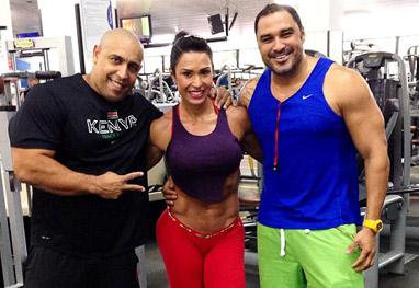 Gracyanne Barbosa publica imagens do treino deste sábado - Reprodução/Instagram