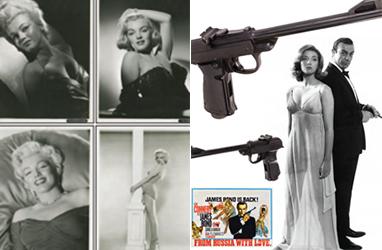 Fotos inéditas de Marilyn Monroe e pistola de James Bond vão a leilão - Reprodução