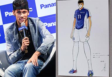 Neymar ganha ilustração feita por cartunista japonês - Manuela Scarpa/Foto Rio News