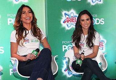 Sabrina Sato e Tatá Wenerck se divertem em lançamento em SP - Manuela Scarpa/Foto Rio News