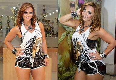 12cd85af5 Viviane Araújo exibe look roqueira em noite de samba - Alex Nunes Divulgação
