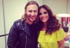 Ivete Sangalo é tietada por David Guetta antes do Rock in Rio 2013 -