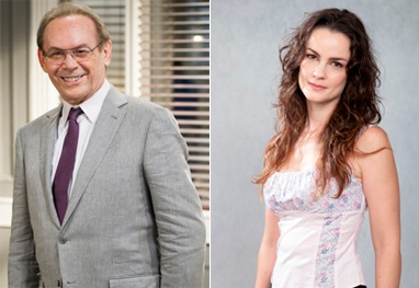 Amor à Vida: sem imaginar incesto, Herbert beija Gina - Amor à Vida / TV Globo